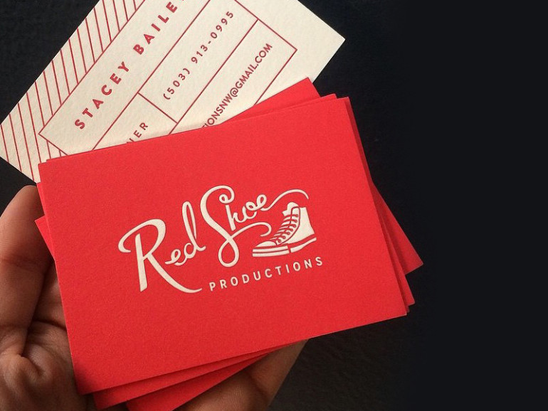 Creative Letterpress Business Cards - Red Shoe Productions