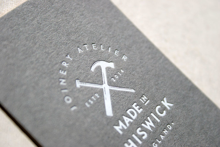 custom letterpress business cards made in chiswick 2 - Letterpress Business Cards
