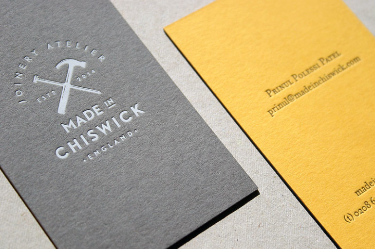 custom letterpress business cards made in chiswick - Letterpress Business Cards