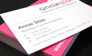 Custom Pink Business Card - Annie Stirk 2
