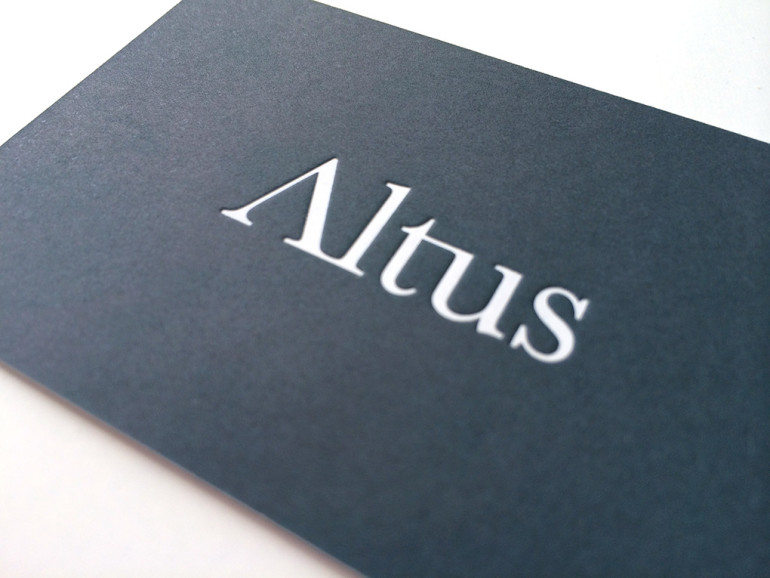 Debossed Duplexed Foiled Business Card - Altus