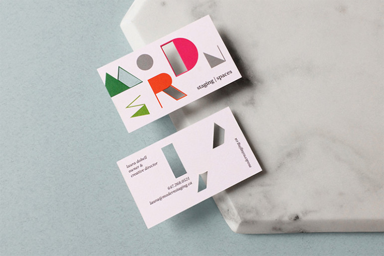 Die-Cut Business Cards - Modern Stages Modern Spaces 3