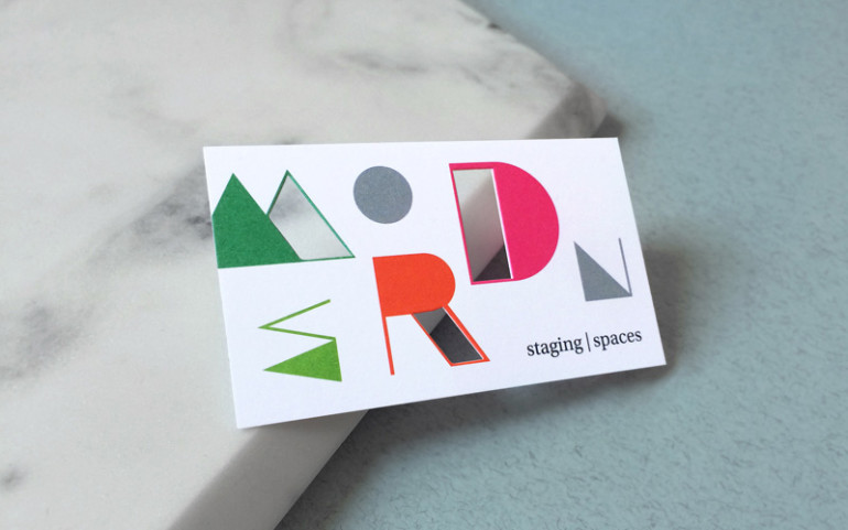 Die-Cut Business Cards - Modern Stages Modern Spaces