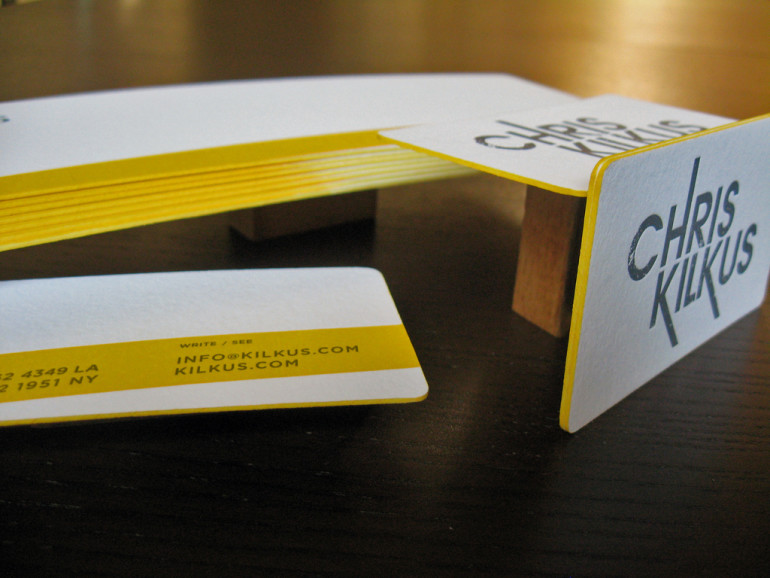 Letterpressed Edgepainted Business Cards - Chris Kilkus 4