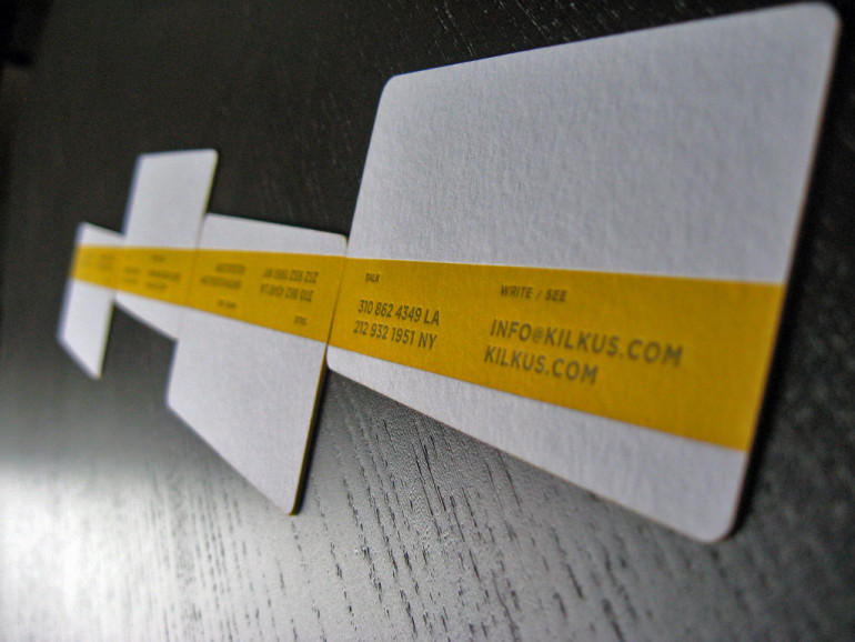 Letterpressed Edgepainted Business Cards - Chris Kilkus 5