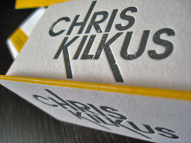 Letterpressed Edgepainted Business Cards - Chris Kilkus