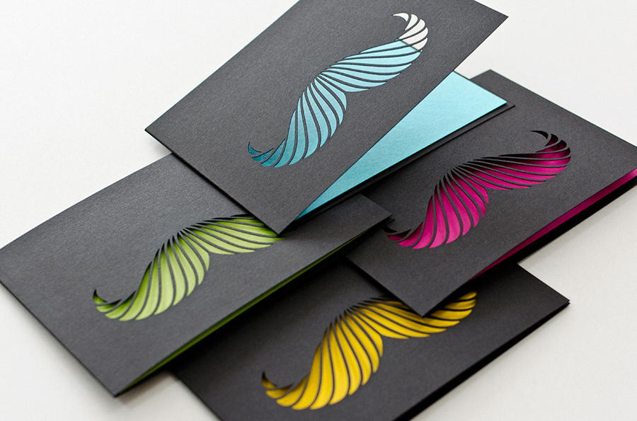 Cool Moustache Business Cards Paperworks