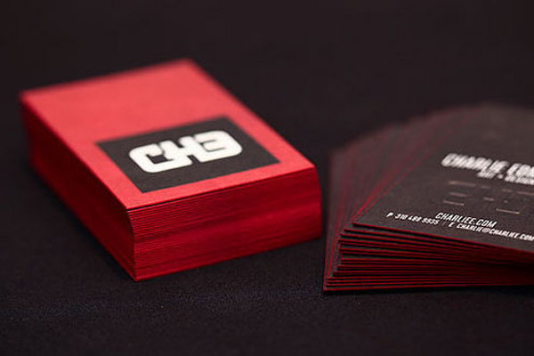 Edge Painted Business Cards - Charlie Edmiston