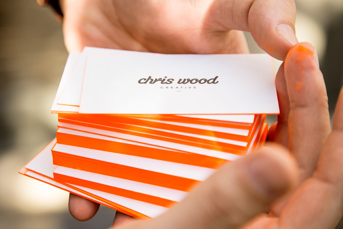 Edge painted business cards chris wood cardrabbit edgepainted business cards chris wood 2 reheart Image collections