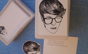 Illustrated Portrait Business Cards