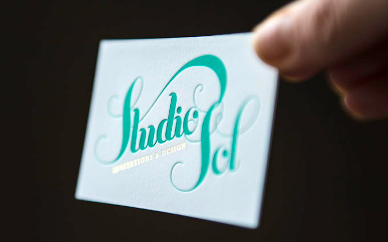 Letterpress Business Cards - Studio Sol
