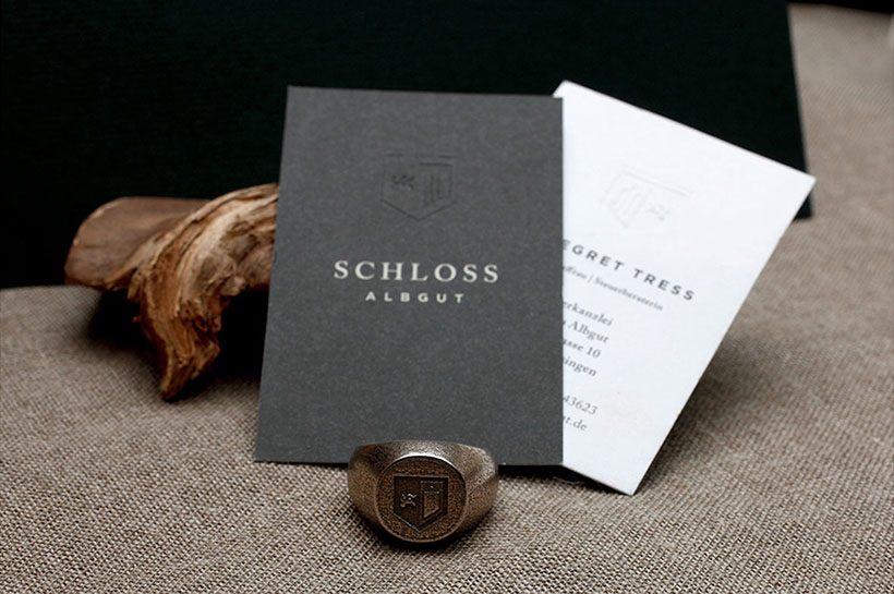 Cool Embossed Business Card - Schloss Albgut