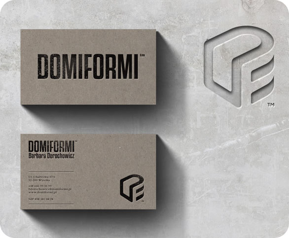 Cool Letterpress Business Card - Domiformi
