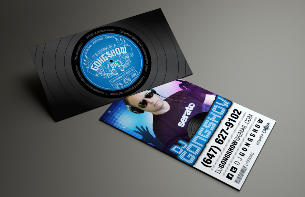 Creative vinyl record business card dj gongshow cardrabbit creative business card dj gongshow reheart Choice Image