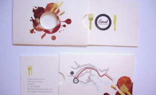 Creative Business Cards - Coral Restaurant 2