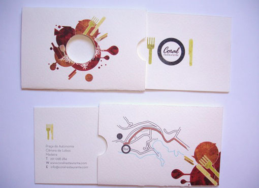 Creative Business Cards Coral Restaurant