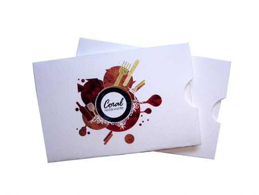 Creative Business Cards - Coral Restaurant