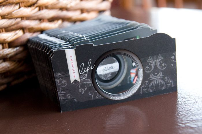 Die-Cut Business Cards - Photo Camera