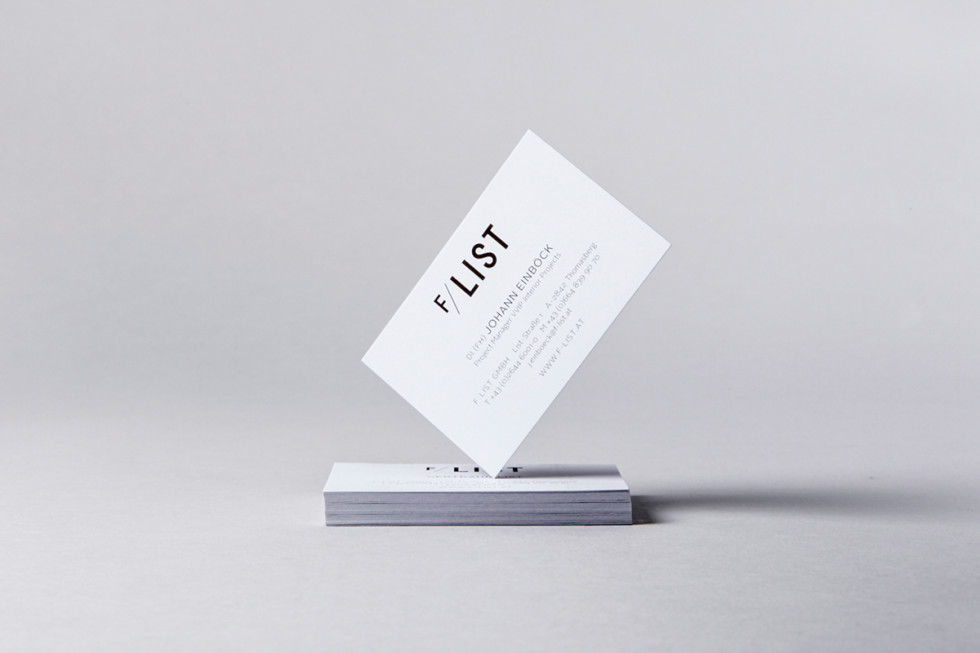 Minimalistic Business Cards - Flist