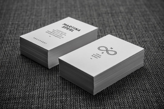 Minimalistic Business Cards - Martina Sperl