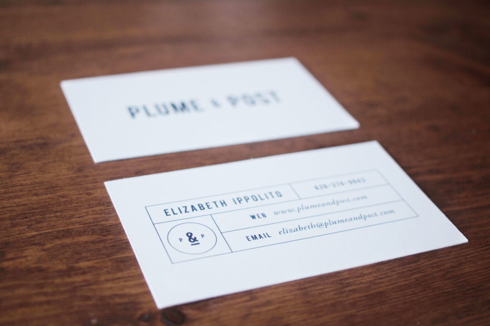 Minimalistic Business Carsd - Plume & Post 2