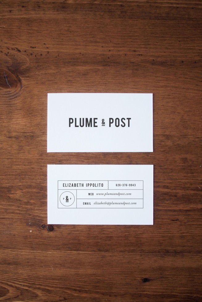 Minimalistic Business Carsd - Plume & Post