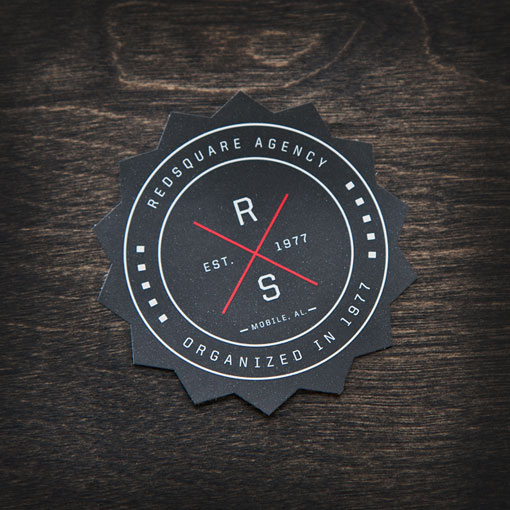 Unique Coaster Business Cards - Redsquare Agency