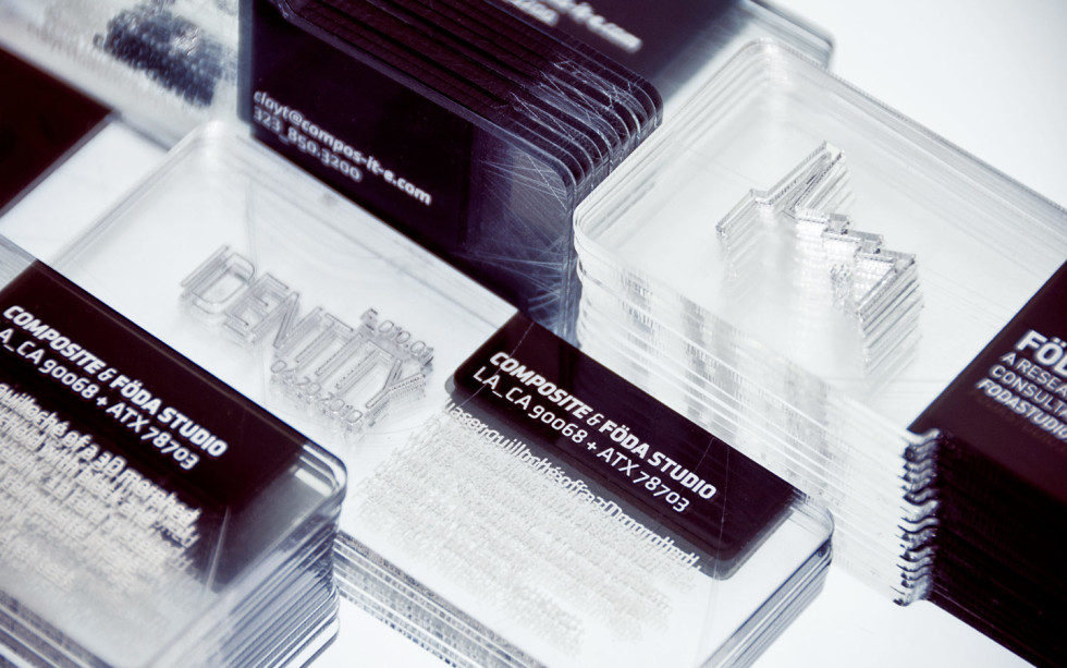 Unique Transparent Platic Business Cards - Composite