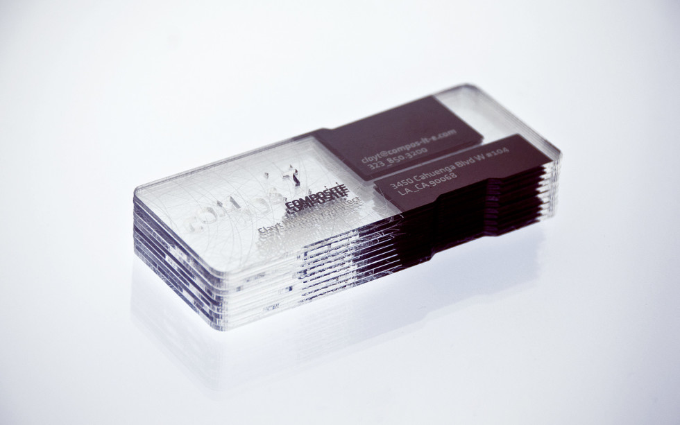 Unique Transparent Platic Business Cards – Composite Architecture ...
