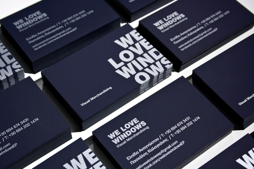 Cool Black Business Card - We Love Windows