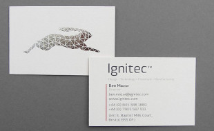Cool Triplexed Silver Foil Business Cards - Ignitec 2