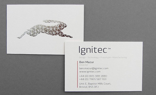 Cool triplexed silver foil business cards ignitec cardrabbit cool triplexed silver foil business cards ignitec 2 colourmoves