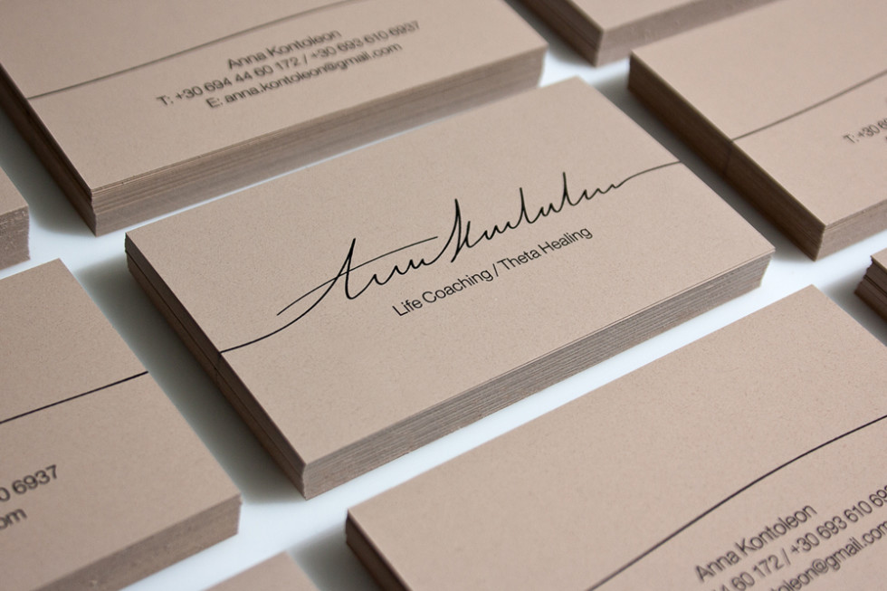 Custom Business Card Design - Anna Kontoleon