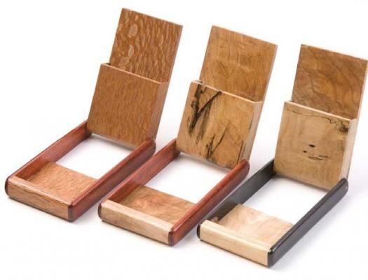 Wooden Pocket Business Card Holder