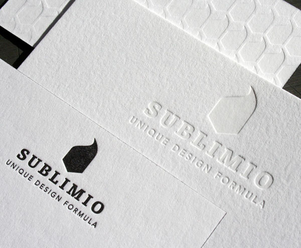 Black and White Letterpress Business Card - Sublimio 2
