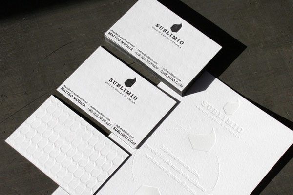 Black and White Letterpress Business Card - Sublimio 3