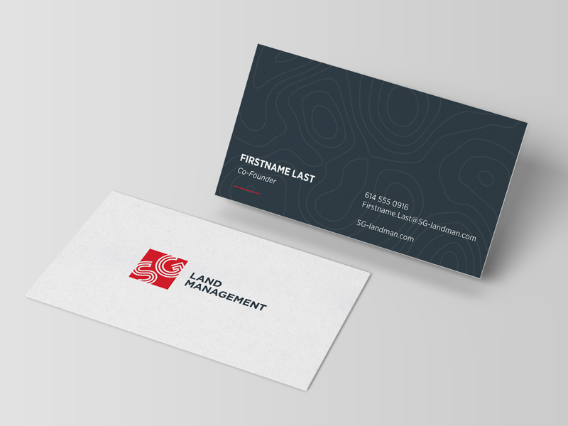 Cool Business Card Design – SG Land Management | CardRabbit.com