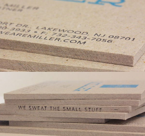 Cool Letterpress Business Cards - Miller 2