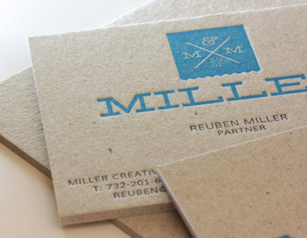 Cool Letterpress Business Cards - Miller