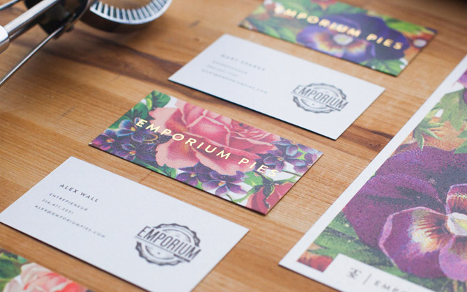 Creative Business Card - Emporium Pies