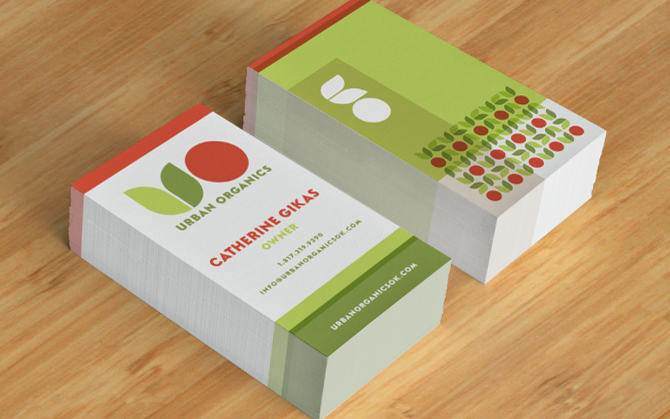 Custom Business Card Design - Urban Organics