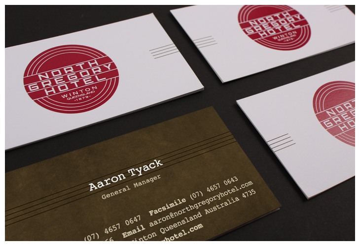 Custom Business Card North Gregory Hotel