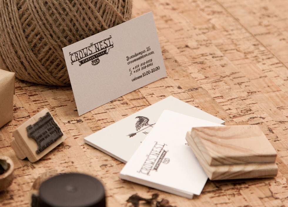 Stamped Business Cards - Crows Nest