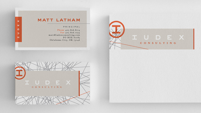 Stylish Custom Business Card - Iudex