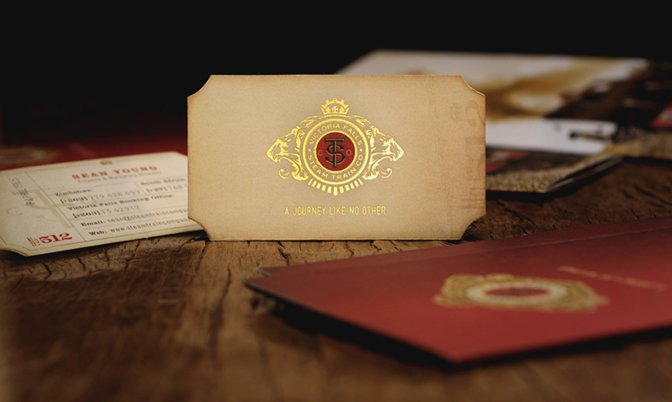 Unique Die-Cut Business Cards - Steam Train