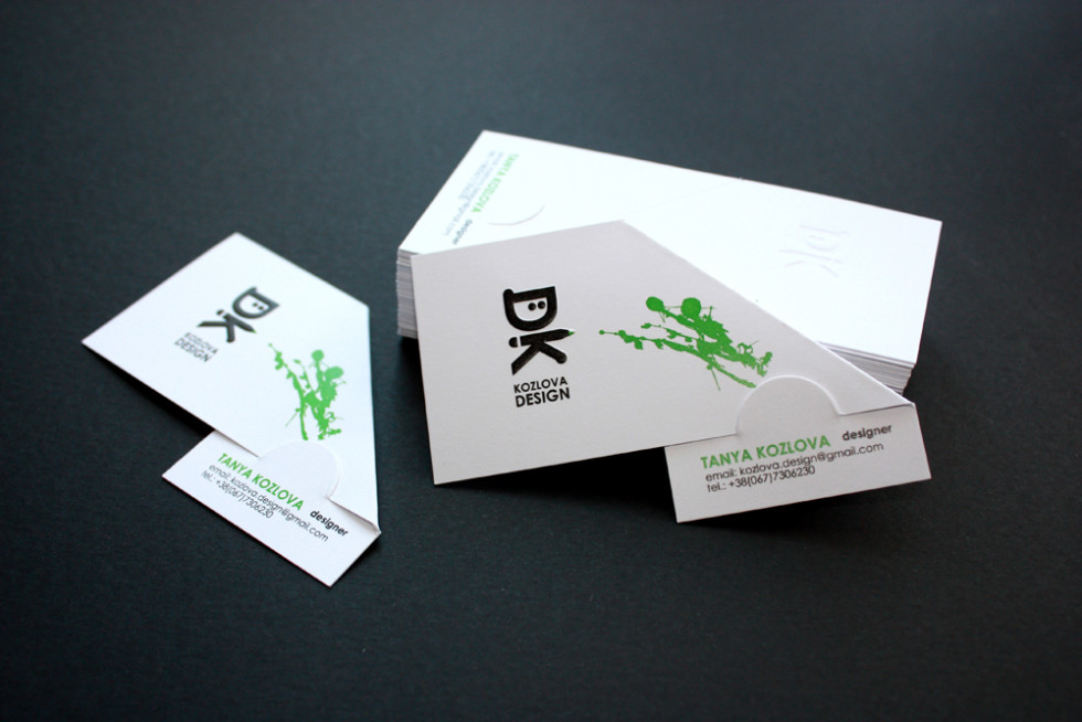 Unique Folding Business Card – Kozlova Design | CardRabbit.com