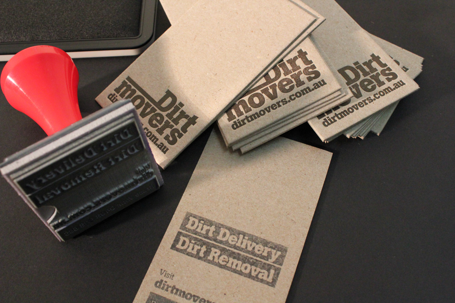 Uniquely Cool Business Cards - Dirt Movers 2