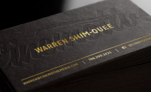 Cool Letterpress Business Card - Warren Shim-Quee
