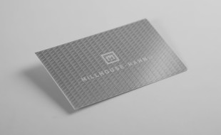 Cool Silver Business Card - Millhouse Hahn