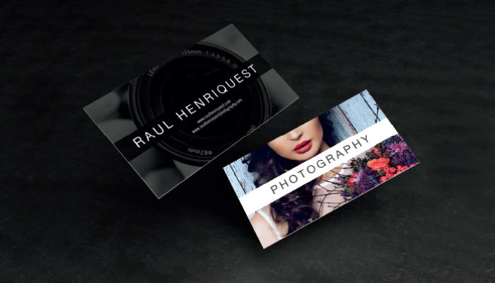 creative business card design raul henriquest photography